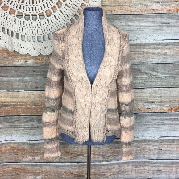 Free People Sweaters Cable Chunky Knit Cardigan Sweater Poshmark